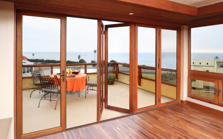 Kunststofffenster holzoptik  Knabe Fenster- und Türentechnik - Produkte - Glas-Faltwand Holz