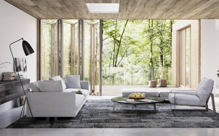 Die Glas-Faltwand in Holz Solarlux Woodline