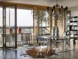 Glas-Faltwand Holz